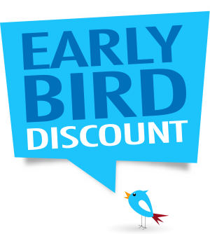 TODAY IS THE FINAL DAY FOR THE EARLY BIRD DISCOUNT!