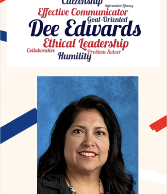 Teacher of the Year:  Dee Edwards!