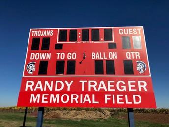 "Kennedy High School Field Named, ""Randy Traeger Memorial Field""."
