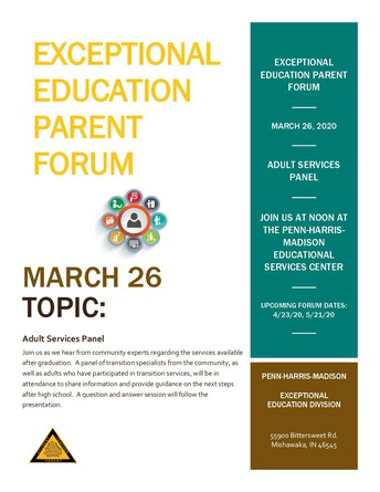 Exceptional Ed Parent Forum March 26