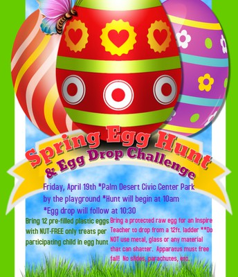 Spring Egg Hunt & Egg Drop Challenge in Palm Desert!!