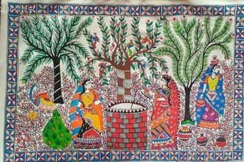 Madhubani Tapestry