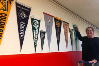College Pennants Grace CPMS Halls Courtesy of Ms. Trisha Parks
