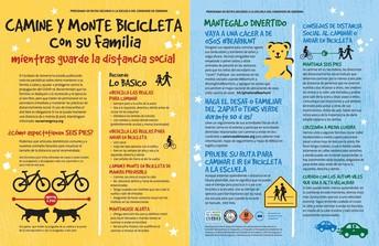 Camine y monte en bicicleta con su familia ... mientras se distancia