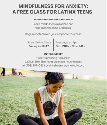 Mindfulness for Anxiety: Free Class for Teen