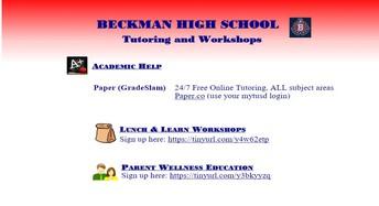 Tutoring & Workshops