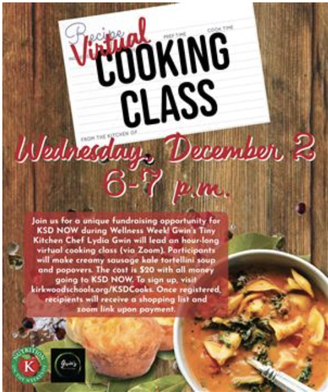 virtual cooking flyer
