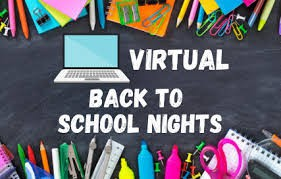 Save the Date!!! Virtual Back to School Night, Wednesday, Sept. 30th