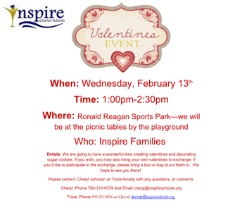 Inspire Valentine's Day Event - 2/13/19