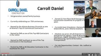 Screen shot of Maxwell's Zoom Career Fair.