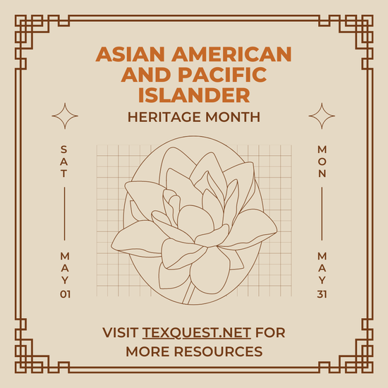 Image of flyer stating Asian American and Pacific Islander Heritage Month