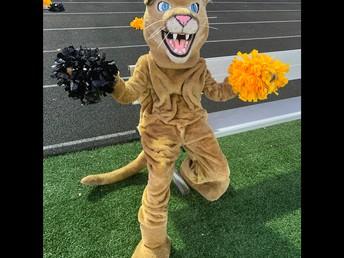 Our Mascot bringing the school spirit!