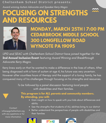 """UPG and SEAC Present """"Focusing on Strengths and Resources"""""""