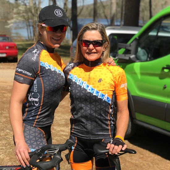 Sarah Hoots and Kim Nelson at the Sumatanga Race Series