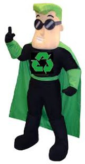 Create a costume from recycled materials