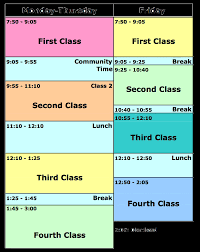 9th Grade Schedules