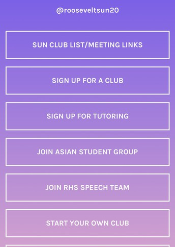 SUN Clubs and Resources