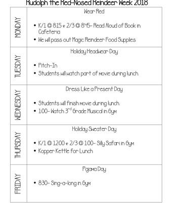 Rudolph Schedule