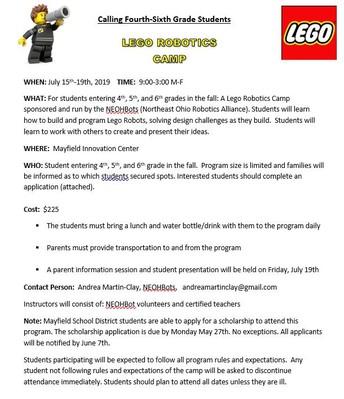 Lego Robotics Flyer