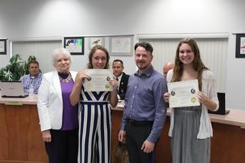 Missouri Scholar Academy Participants; Jenna Anding & Emma Perry