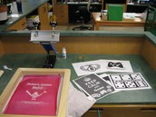 Screen printer with submitted designs