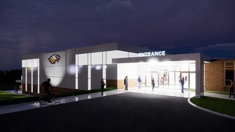 New Activity Center/Safe Room - Southwest Entrance