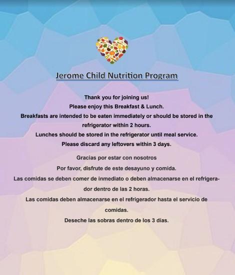 Jerome Child Nutrition Program