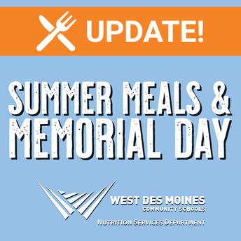 Nutrition Update: Memorial Day & Summer Meals