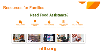Additional Food Resources through the North Texas Food Bank