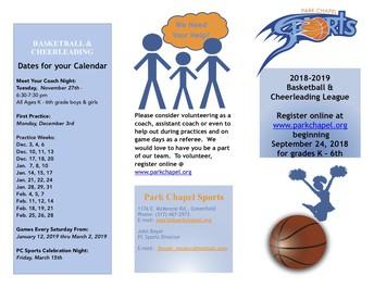 PC Basketball & Cheerleading