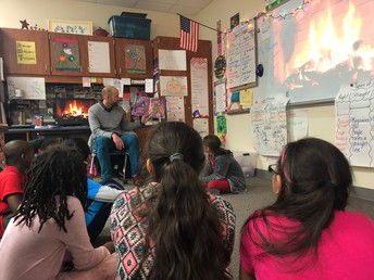 We enjoyed having Mr. Arend come in and read us a story by the fire!