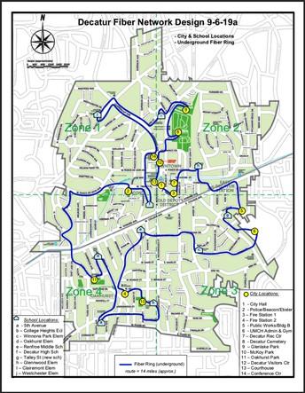 New Decatur Fiber Network Installed Around the City