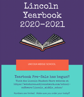 Lincoln Yearbook Pre-Order Sale!