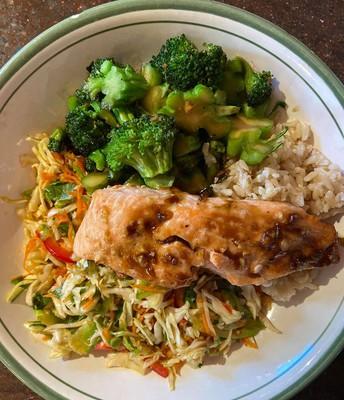 Salmon, Veggies and Rice