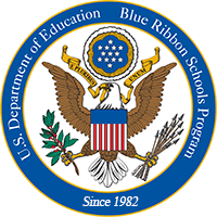 Picture of U.S. Department of Education Blue Ribbon Schools Program Seal