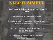 Simplicity = Success