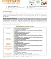 Sample Insert Nutrition Fizz Protein Shake Mix