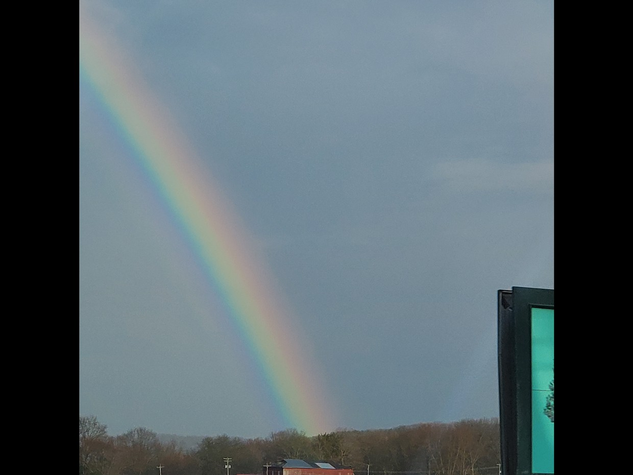 Did you see the rainbow over the Valley on Friday?