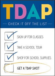 Tdap Vaccine Requirements for Middle School Students