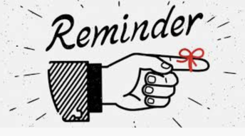 Reminder - Personal Electronic Devices