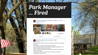 Park Manager Fired