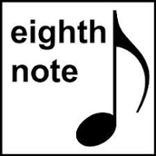 eighth note = corchea (octava nota)
