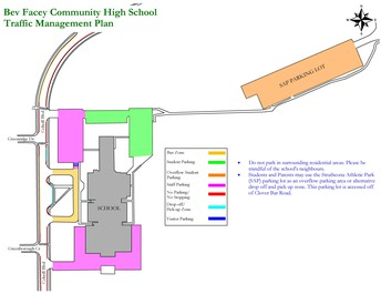 Student drop-off and pick-up