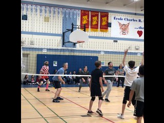 Staff Student Volleyball Game