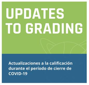 Actualizaciones a la calificación durante el período de cierre de COVID-19