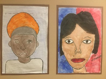 These are some of the portraits done by students.