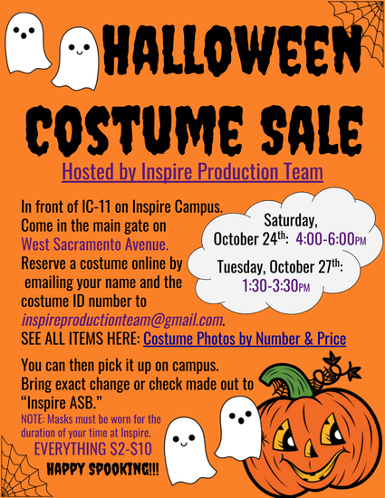 Halloween costume sale