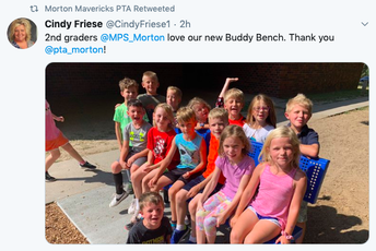 New Buddy Bench - Thank you PTA!