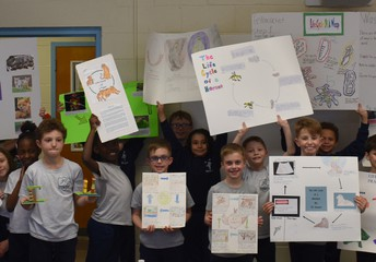 Third Grade showed us all about the life cycle. Cool stuff!