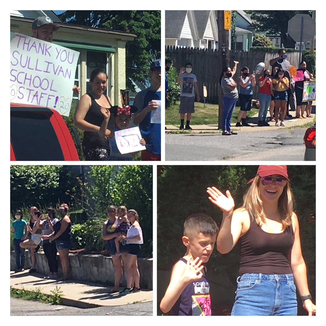Collage of the end of the year sullivan car parade.